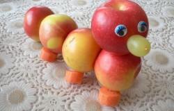 Поделки из яблок — зеленых и красных