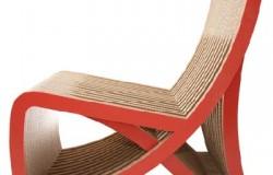 Дизайнерские кресла и столики из гофрированного картона.