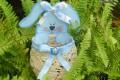 Пасхальный кролик с корзинкой в виде яйца из подручных материалов МК