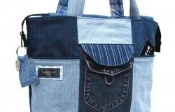 Современные стильные сумки из старых джинсов