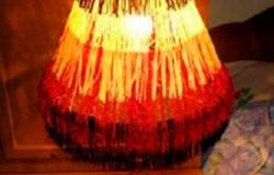 Абажур для настольной лампы своими руками из бахромы. МК