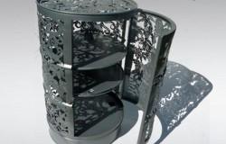 Кружевная  мебель  и декор из бочек   от  Анны и Филиппа Гильбо