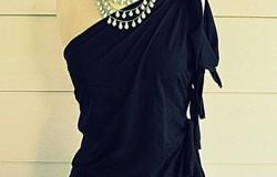 Переделка мужской футболки в женскую на одно плечо МК