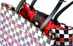 Плетение сумок из упаковочной полипропиленовой ленты.