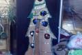 Большая новогодняя елка из картона МК