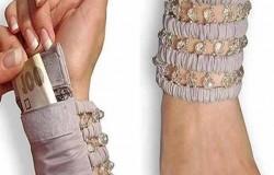 Кошелек- браслет женский  из ткани  своими руками