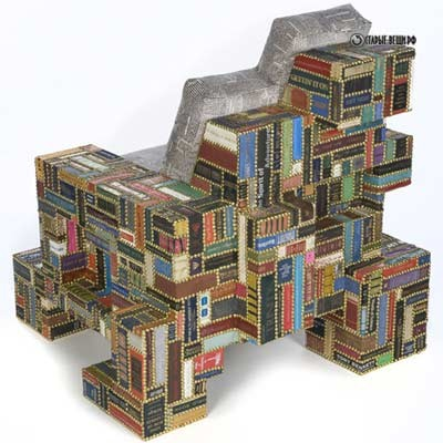Мебель из старых книг