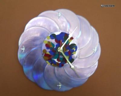 Часы из cd дисков