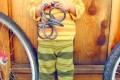 Детские штанишки из папиного свитера