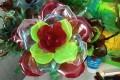 Розы из пластиковых бутылок своими руками МК