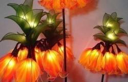 Цветы светильники из капрона
