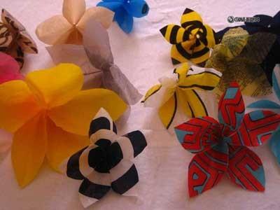 Цветы из полиэтиленовых пакетов