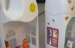 МК кукольный домик своими руками из пластиковой бутылки
