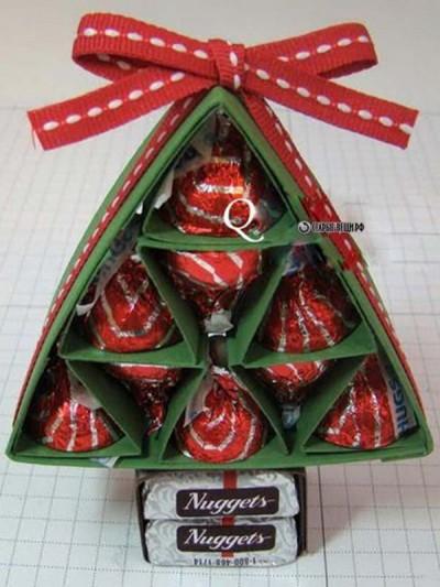 Новогодние елки из конфет своими руками МК