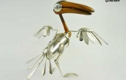 Скульптуры из посуды Дин Патман