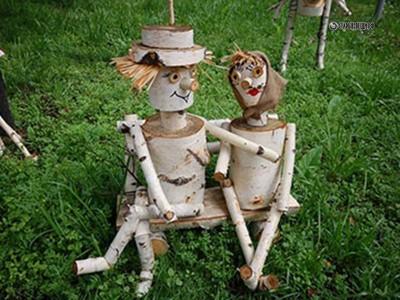 Забавные фигурки из дерева для сада своими руками