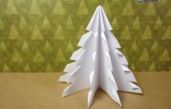 МК Оригами елочка из бумаги