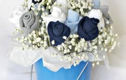 Цветы из детских носков