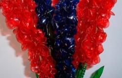 Гиацинт из пластиковых бутылок МК
