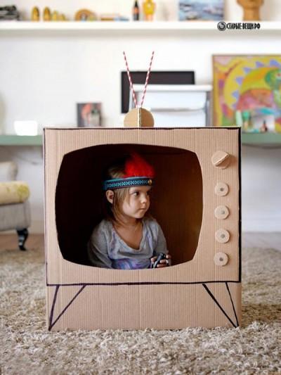 Игрушки для детей из картонных коробок