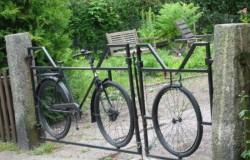 Ворота и калитки из старых велосипедов