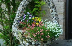 Красивые клумбы из камней на дачу