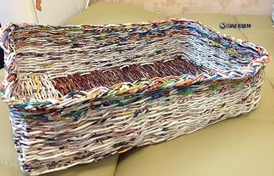 МК Плетение корзинок из журналов