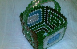 Корзинка из пластиковой бутылки