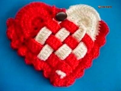 МК плетеная сумка-косметичка  своими руками  из остатков пряжи