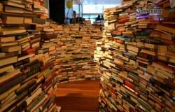 Гигантские лабиринты из старых книг.