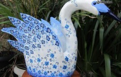 Лебедь из пластиковой бутылки МК