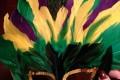МК как сделать новогоднюю маску с перьями своими руками