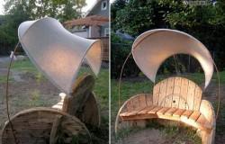 Мебель из катушек от кабеля