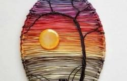 Мини-картины из цветной проволоки