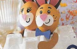 Пасхальные кролики – яйца на автомобиле