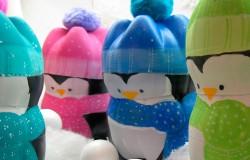 МК пингвины из пластиковых бутылок
