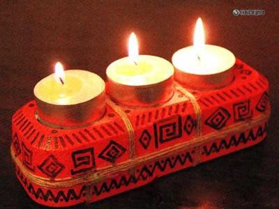 Подставка для свечей своими руками из тройника