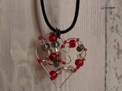 Подвески из проволоки в виде сердечек