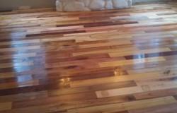 Пол из деревянных поддонов