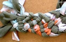 Плетеный ремень из старой футболки