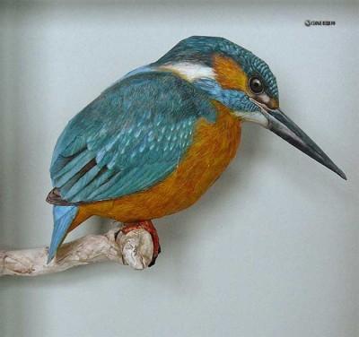 Конструирование птицы из бумаги