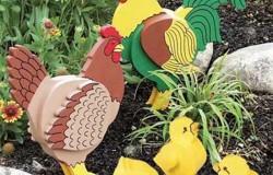 Птицы из фанеры в сад