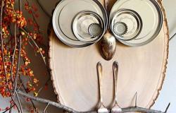 Талисман –сова из подручных материалов