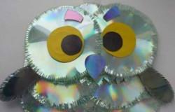 Сова из сд дисков своими руками