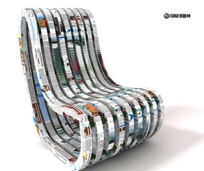 Кресло из бумаги