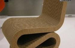 Изящный стул из картона