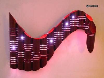 Настенный светильник из картонных труб своими руками