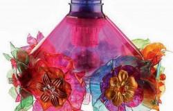 Светильник из пластиковых бутылок для дачи