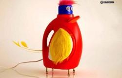 Забавные уникальные светильники из пластиковых бутылок