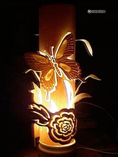 Ажурные светильники из трубы ПВХ